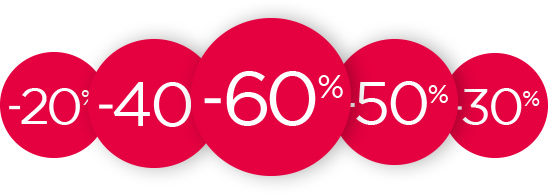-20% / -30% / -40% / -50% / -60%