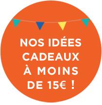 Nos idées cadeaux à moins de 15€ !